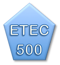 button to ETEC 500 course page